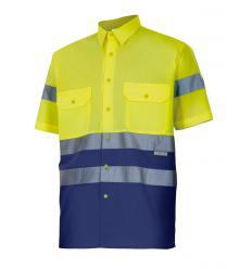 Camisa bicolor manga corta alta visibilidad